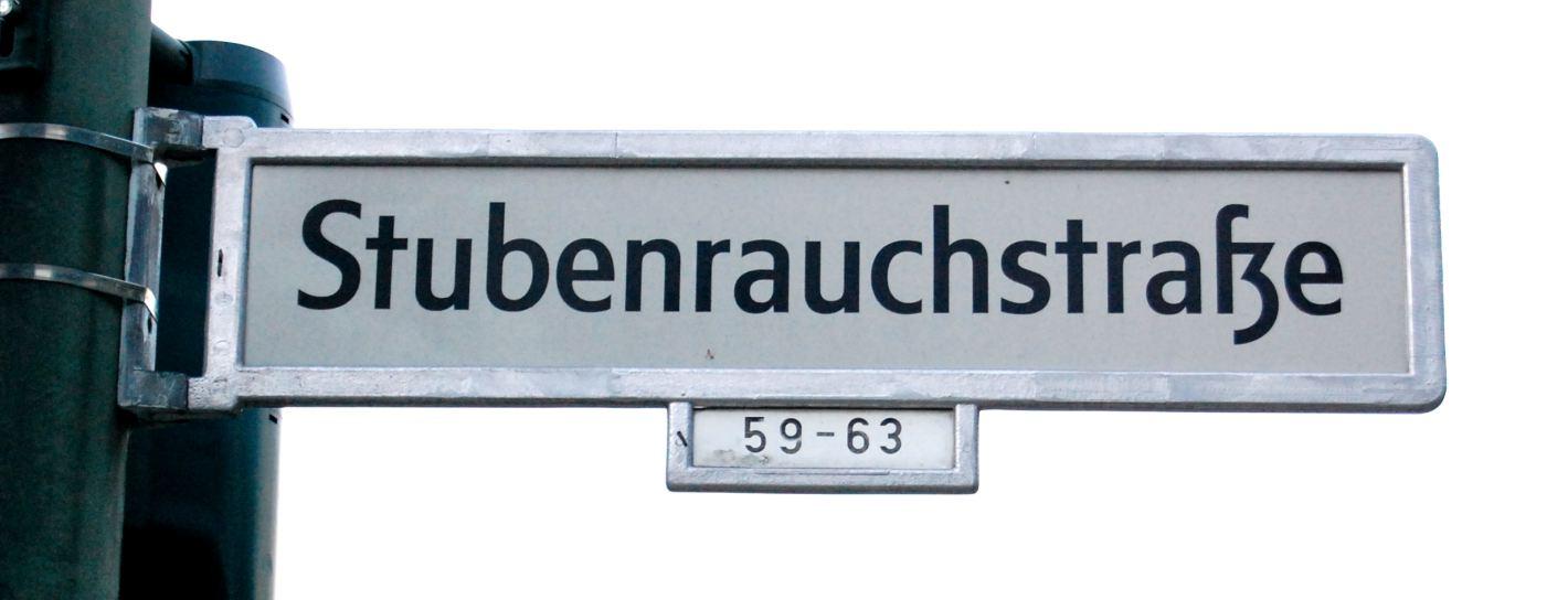 Inakzeptabler Straßenname
