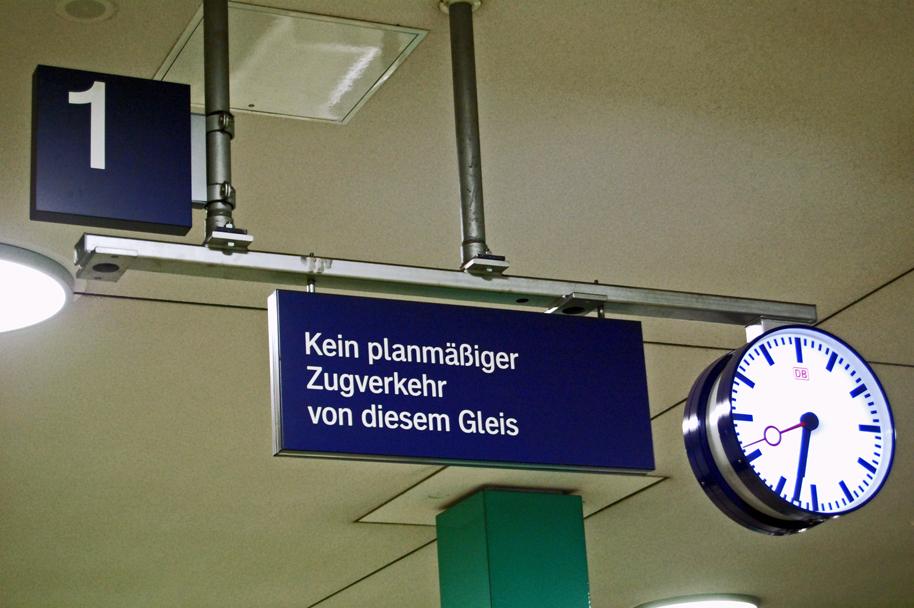 Gleis 1 ist im S-Bf Anhalter Bahnhof das unwichtigste.